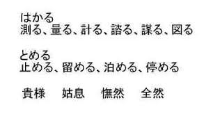 さ 漢字 重 を はかる